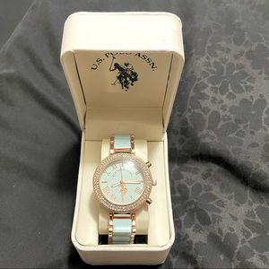 Brand new US Polo Rose gold and green watch